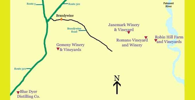 Wine and spirits tasting rooms near Brandywine
